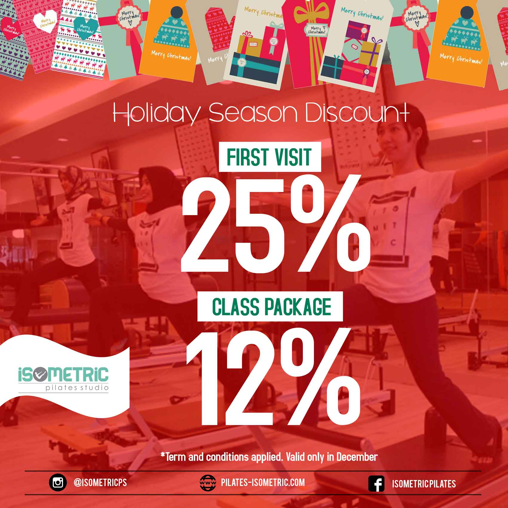Pilates Holiday Season Discount